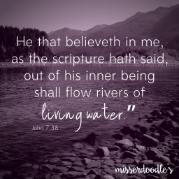 Living water…